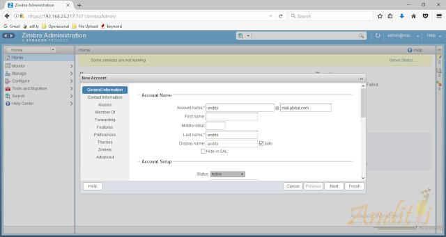 Cara Menambahkan User Account Zimbra-anditii.web.id