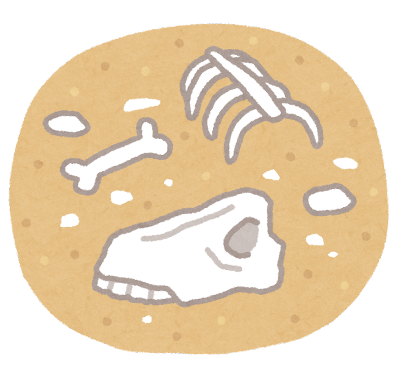砂漠の骨のイラスト