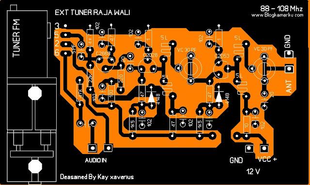 Pemancar fm PCB Tuner Rajawali
