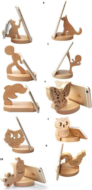 Ideas para teléfono móvil en madera