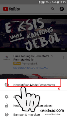 Nonaktifkan Mode Penyamaran Incognito Aplikasi Youtube Android