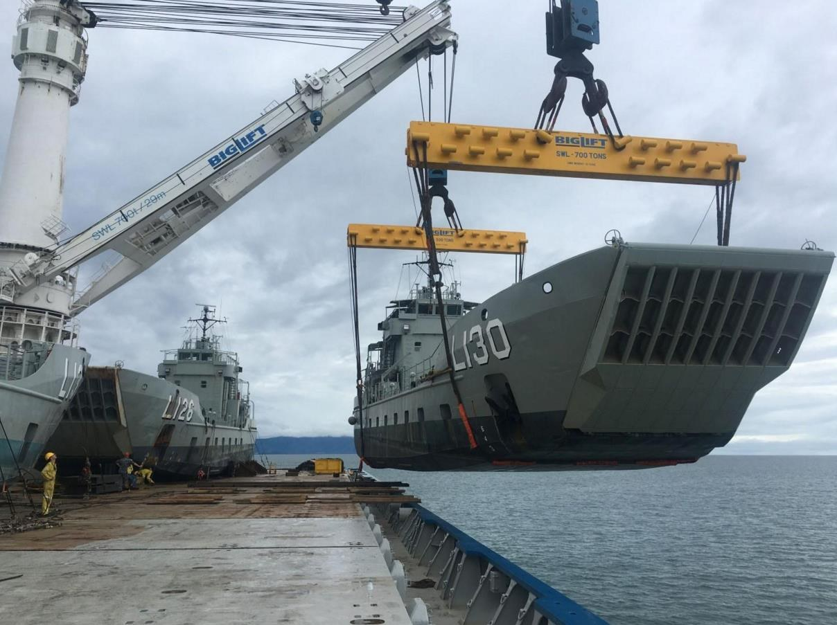 Three former australian landing craft arrive in for Military landing craft for sale
