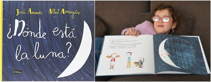 cuentos infantiles, libros conocimientos informativos dónde está la luna