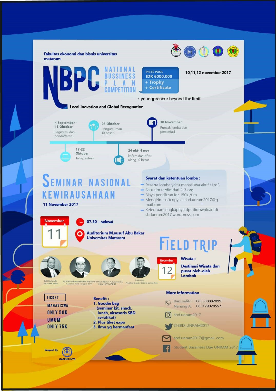 National Business Plan Competition (NBPC) 2017 | Univ. Mataram | Mahasiswa