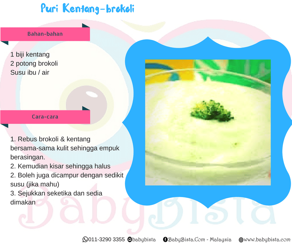 resepi puri kentang brokoli