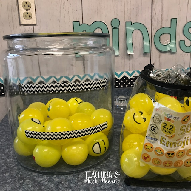 emoji marble jar reward