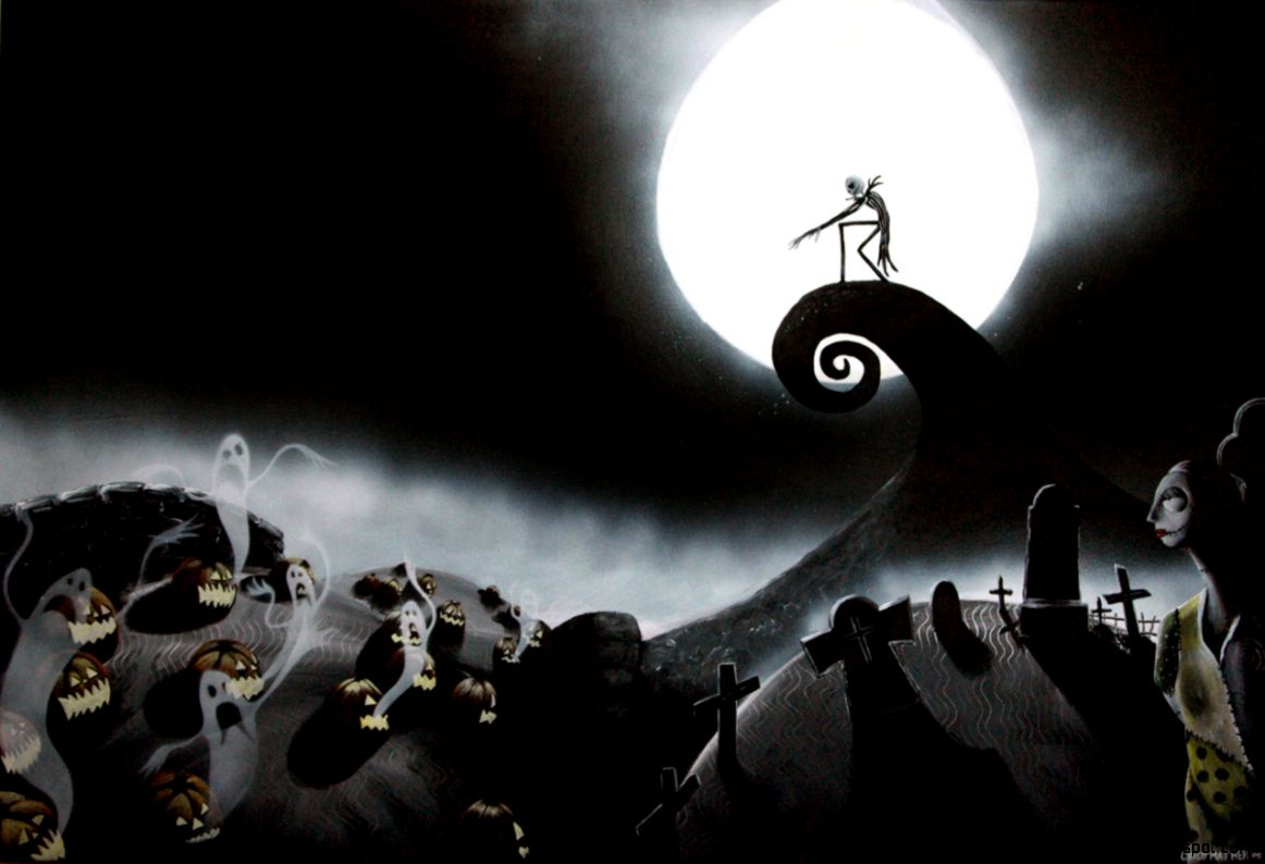The Nightmare Before Christmas Art Hd Wallpaper All Wallpapers