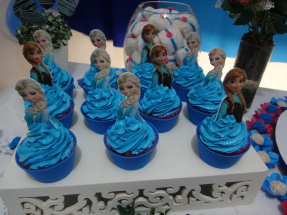 Cupcake frozen Festa infantil
