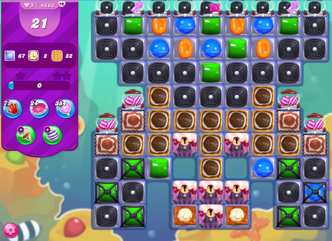 Candy Crush Saga level 4663