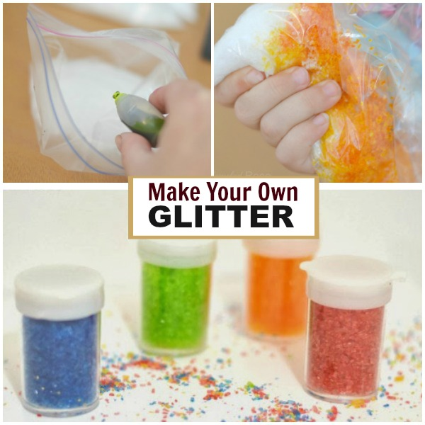 HOW TO MAKE GLITTER #playrecipes #homemadeglitter