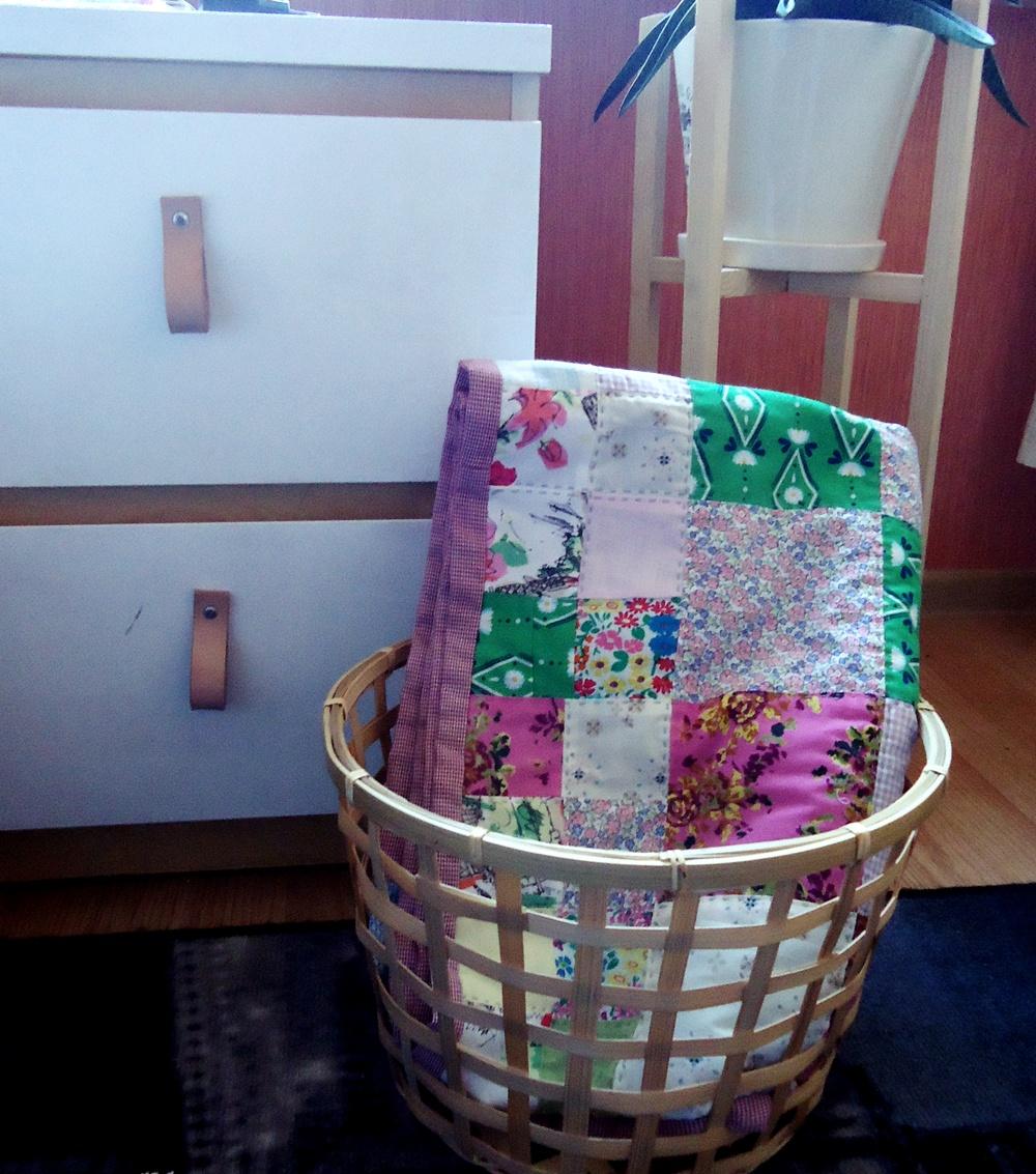 patchwork recyklingowy, kocyk diy