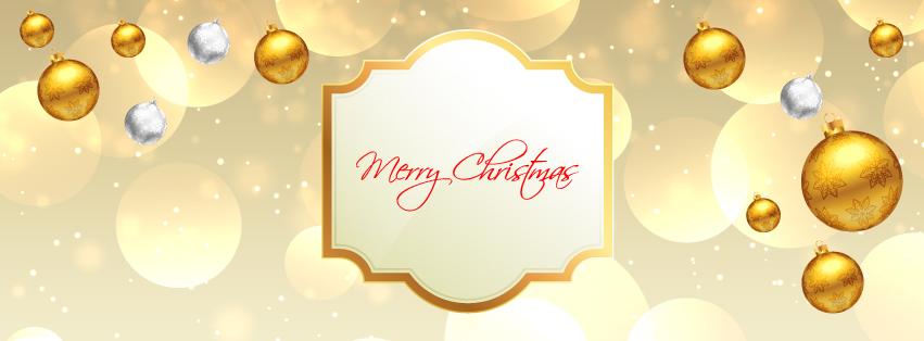 Christmas Facebook gold cover