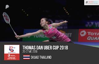 Pemain Thailand di Thomas dan Uber Cup 2018