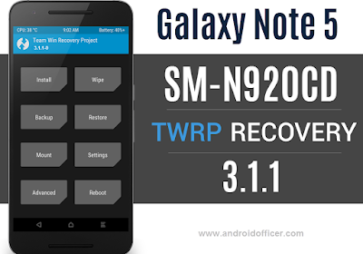 TWRP Recovery for Galaxy Note 5 SM-N920CD