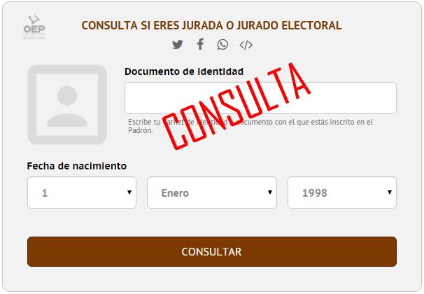 Consulta de jurados electorales OEP - Referendo Constitucional