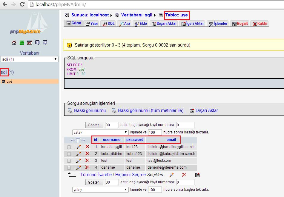 SQL Injection - PHP Scriptlerde SQLi Tespiti ve Exploit Etme 1