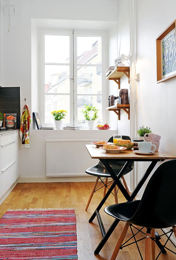 cadeiras Eiffel na decoração na cozinha