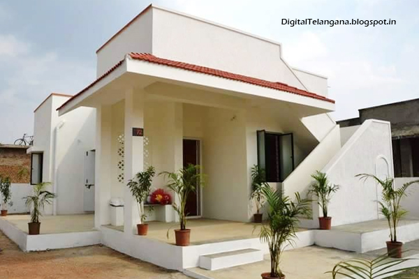 finished model double bedroom house 2 bhk at erravalli village