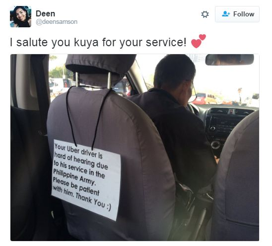 LOOK! A Deaf Uber Driver Is Being Praised By Netizens! Find Out Why Here!