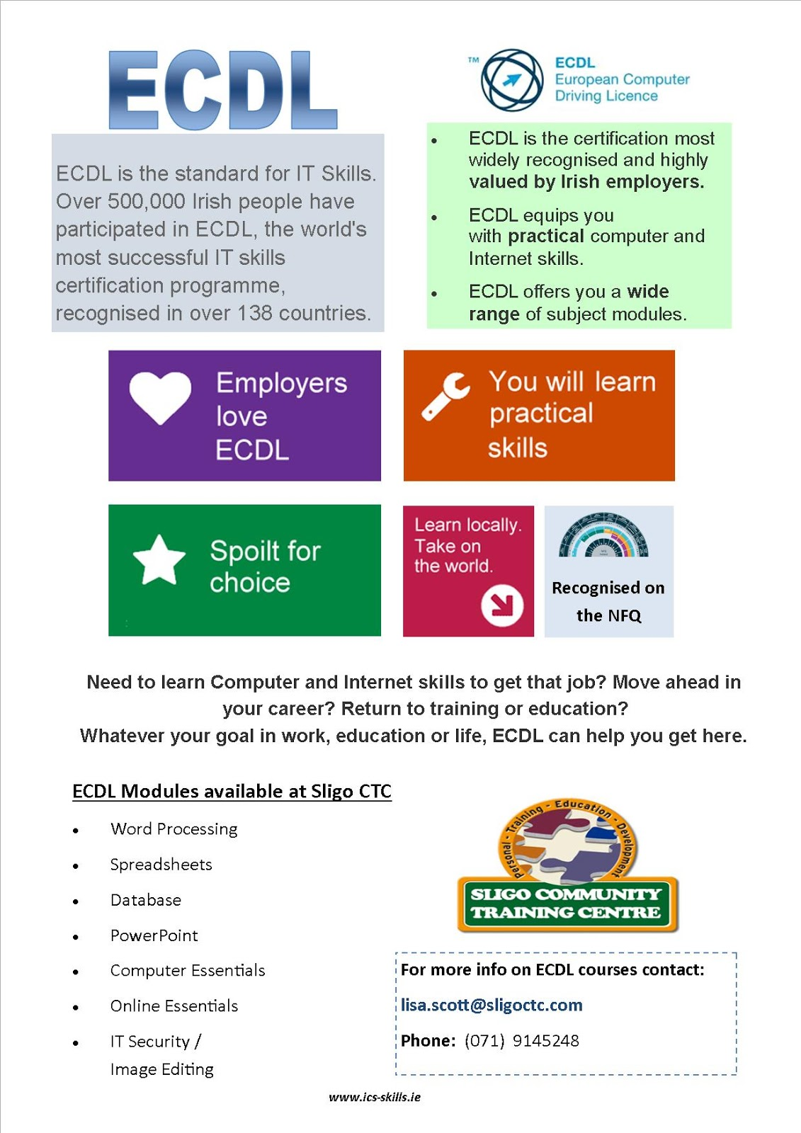 Sligo ctc blog are you interested in getting your ecdl are you interested in getting your ecdl 1betcityfo Choice Image