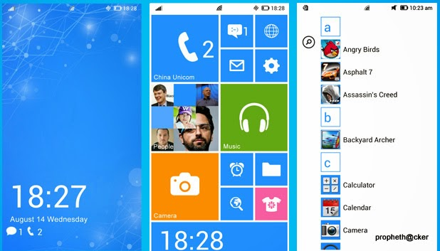 make your android look like windows phone