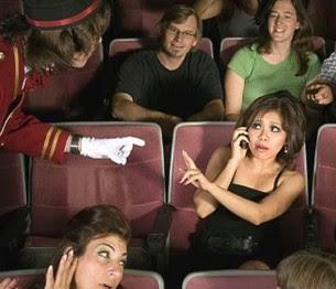 Mobile phones in cinemas