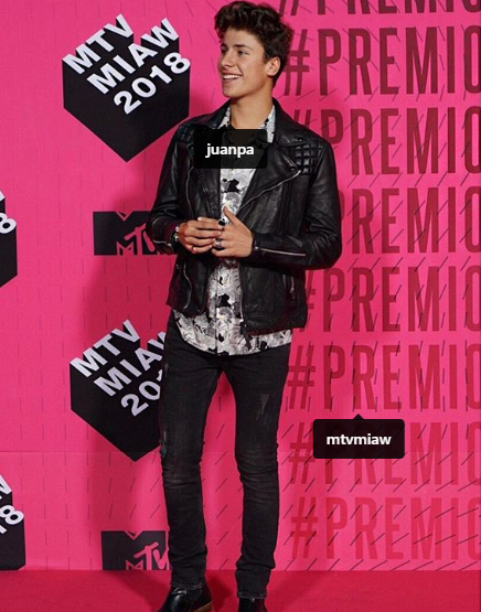 Juanpa Zurita, youtuber, Premios MTV 2018, alfombra rosa