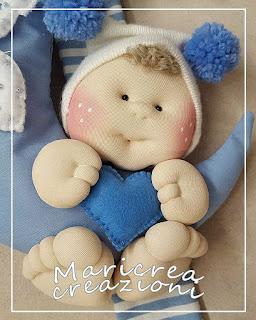 bambolotto fiocco nascita luna azzurra