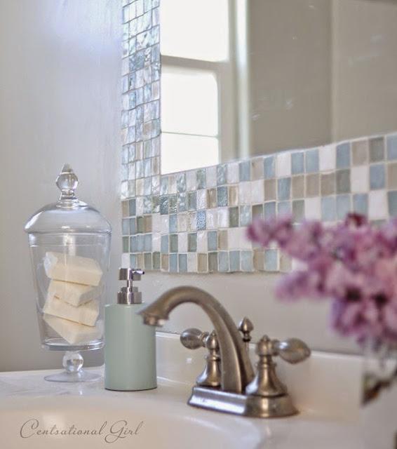 Diy espejo mosaico para cuarto de ba o cocochicdeco - Silicona para exteriores ...
