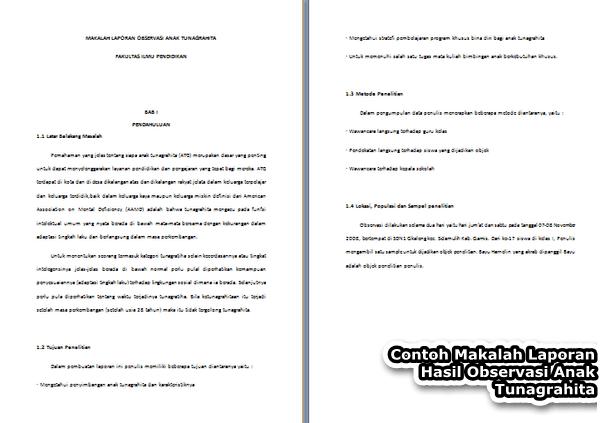 Contoh Makalah Laporan Observasi Anak Tunagrahita Format Doc Docx Microsoft Word Contoh Docs