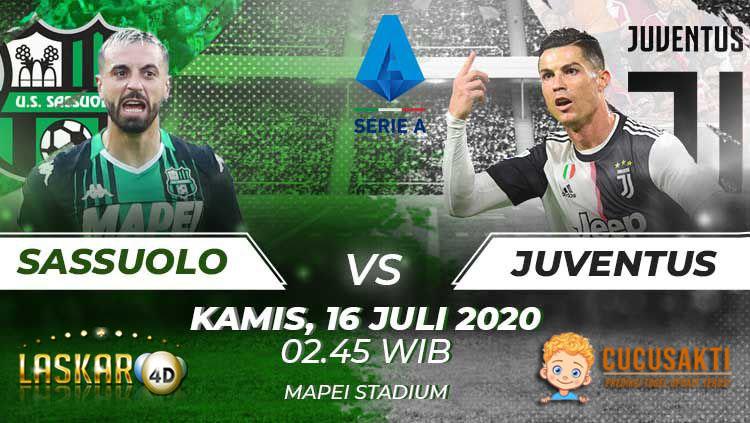 Prediksi Bola Sassuolo vs Juventus Kamis, 16 Juli 2020