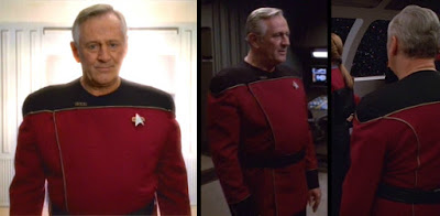 Transitional uniform worn by Admiral Janeway, Captain Janeway's father
