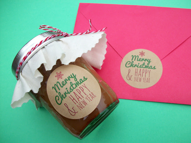 Merry Christmas Happy New Years canning jar labels & envelope seals