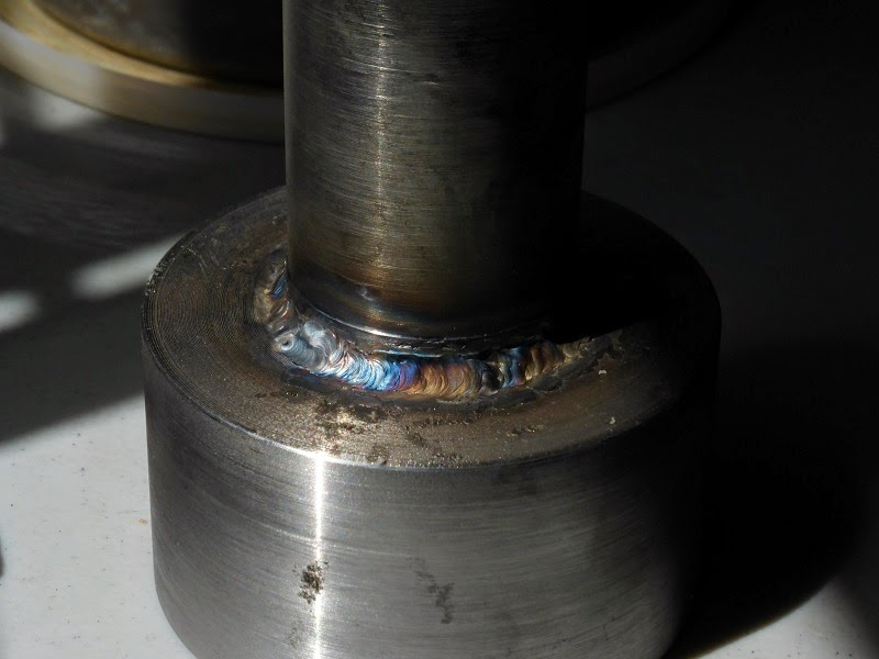 collet cloture after TIG welding