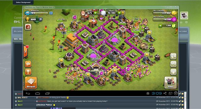 Funcionamiento Clash of Clans desde Bluestacks