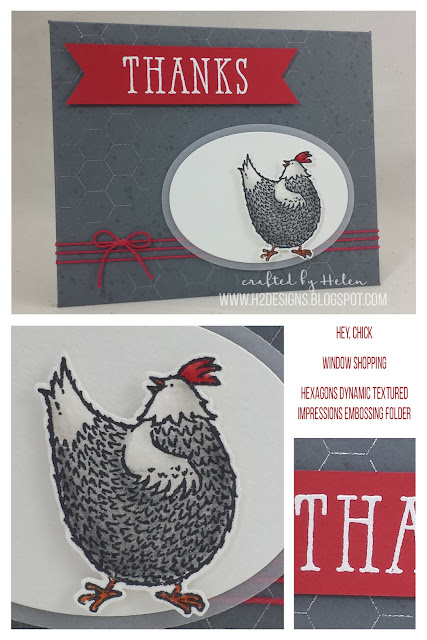 H2Designs | Hey Chick, Window Shopping & Hexagons Dynamic Textured Impressions Embossing Folder