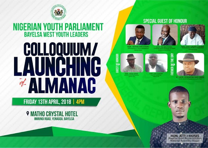 Nigerian Youth Parliament Colloquium to hold in Bayelsa