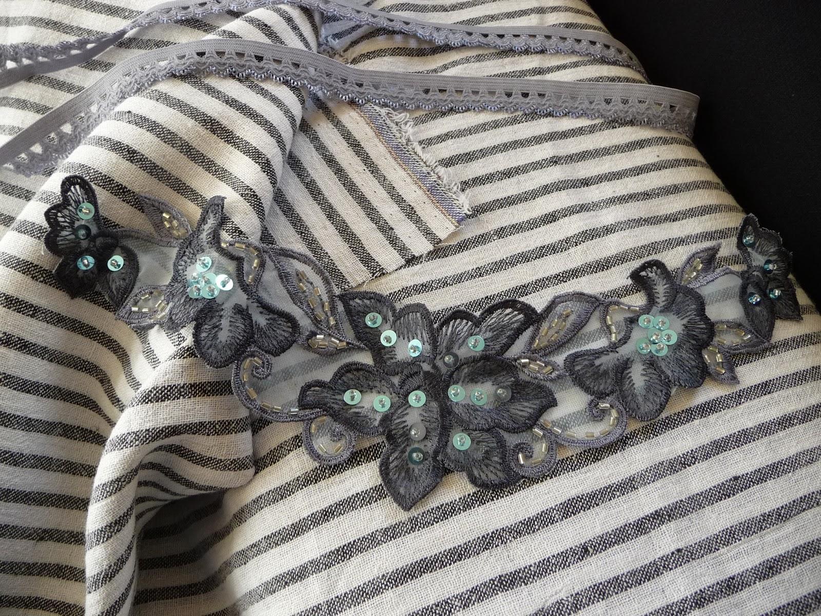 phantasiali stoffe applikation grau perlen pailletten. Black Bedroom Furniture Sets. Home Design Ideas