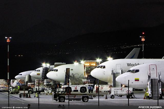 Plataforma de carga Aeropuerto de Quio