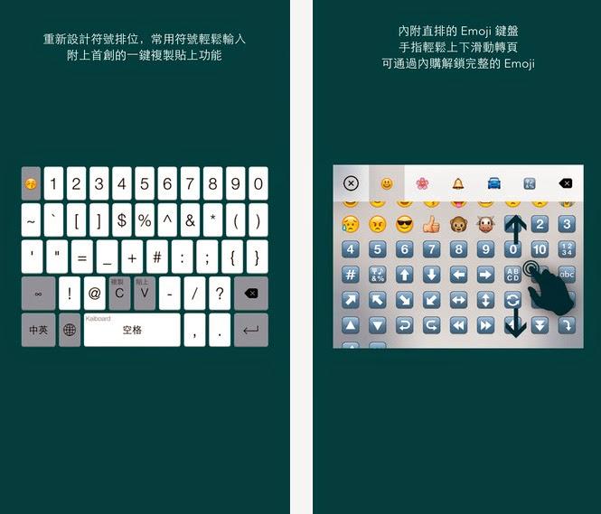 Kaiboard - iPhone 倉頡 · 速成 · 中英文混合鍵盤
