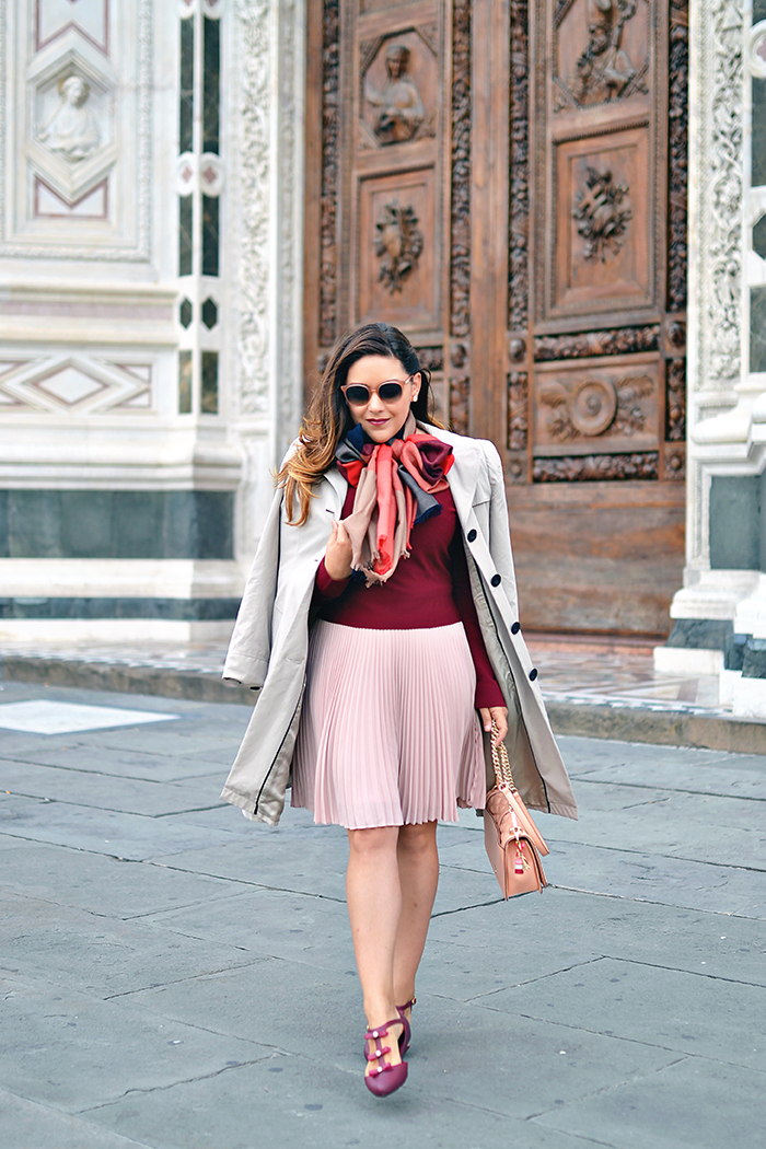 History In High Heels: Outfit: Burgundy & Blush