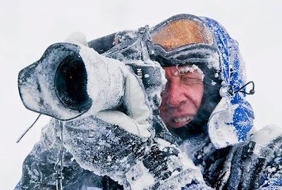 fotógrafo congela la imagen
