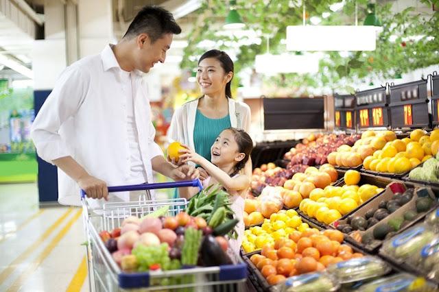 Khu siêu thị mua sắm tại tầng 1