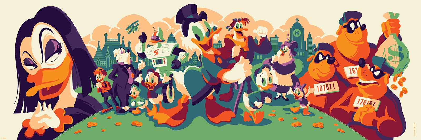 DuckTales Magica De Spell Edition Screen Print By Tom Whalen X Cyclops Works Gallery