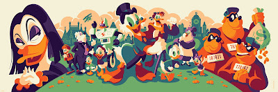 DuckTales Magica De Spell Edition Screen Print by Tom Whalen x Cyclops Print Works x Gallery Nucleus x Disney