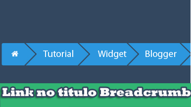 Como colocar link no titulo do Breadcrumb