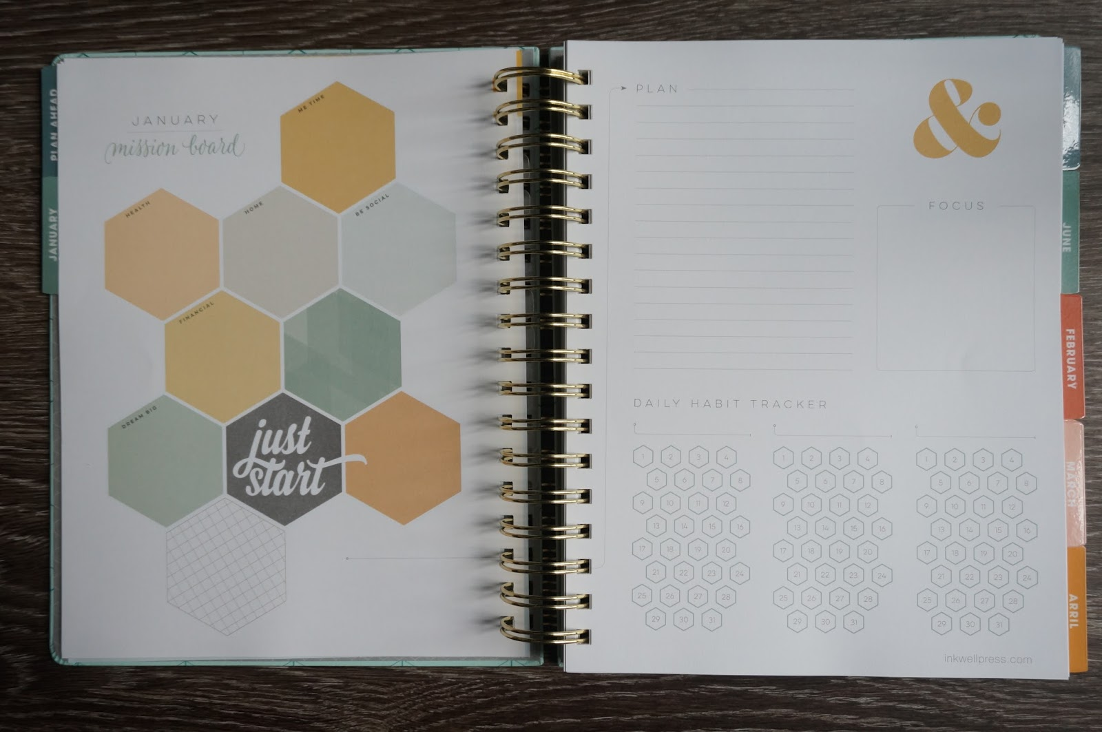 2017 Inkwell Press Planner by North Carolina style blogger Rebecca Lately