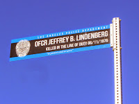 Sign near Mt. Hollywood memorializing LAPD Officer Jeffrey B. Lindenberg who was killed in the line of duty on June 11, 1976