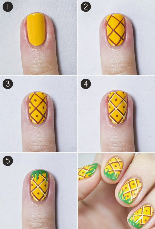 Fruits Nail Art Design and Cool Ideas Step By Step ...