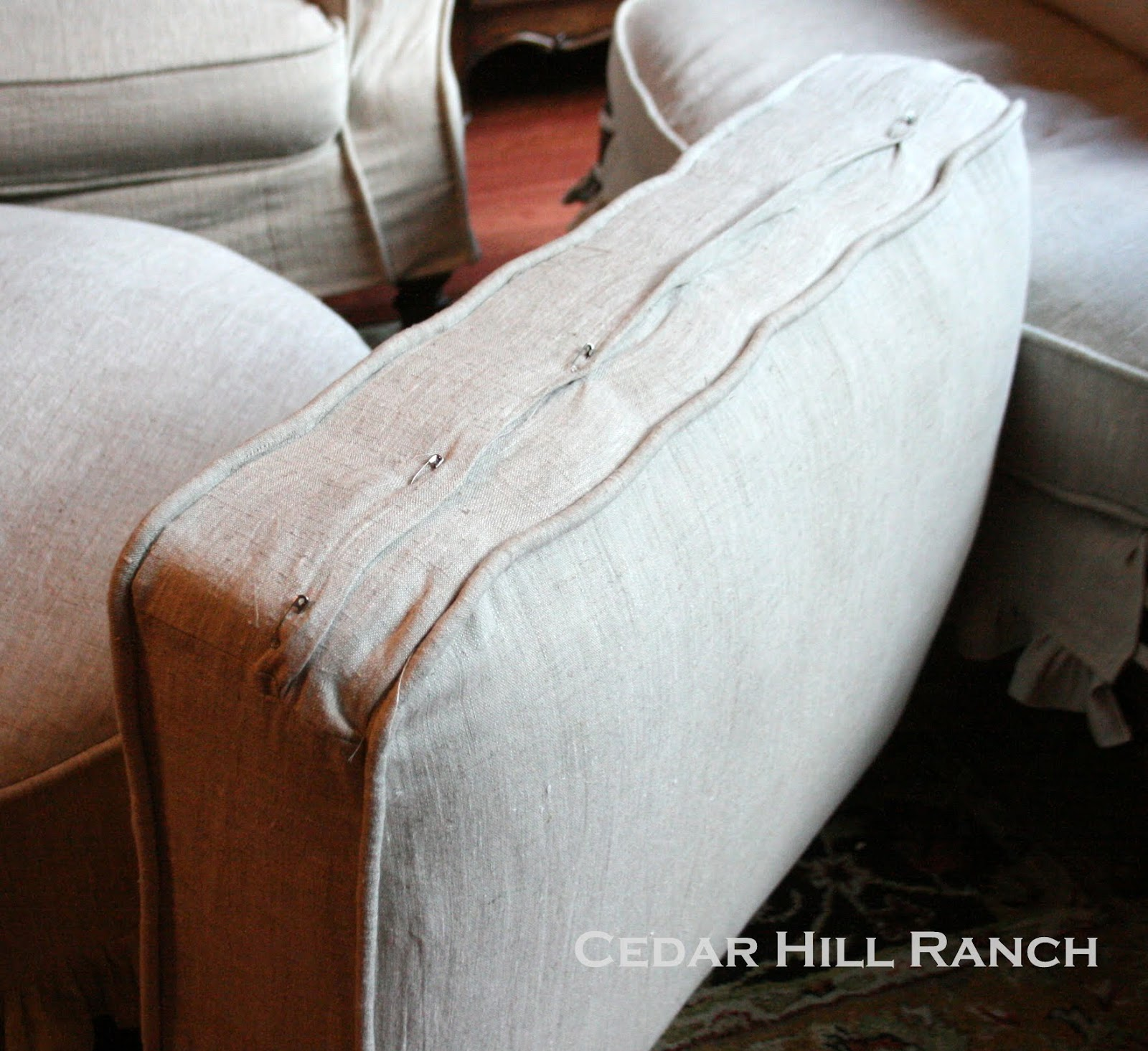My Slipcovering Tips Cedar Hill Farmhouse